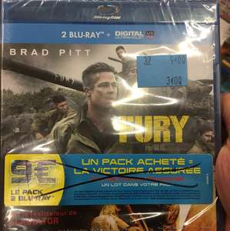 Coffret Blu-ray 2 films : Fury + La chute du Faucon noir ou Equaliser + 2Guns (Le Mans - 72)