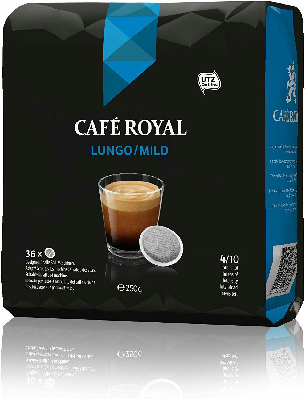 5 Paquets de 36 dosettes Café Royal Lungo - 180 dosettes
