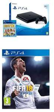 Console Sony PS4 500 Go + FIFA 18 + Qui es-tu ?