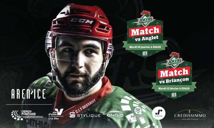 2 Places pour le match de Hockey D1 HCCP vs Anglet (ou Briançon) à Cergy pontoise (95)