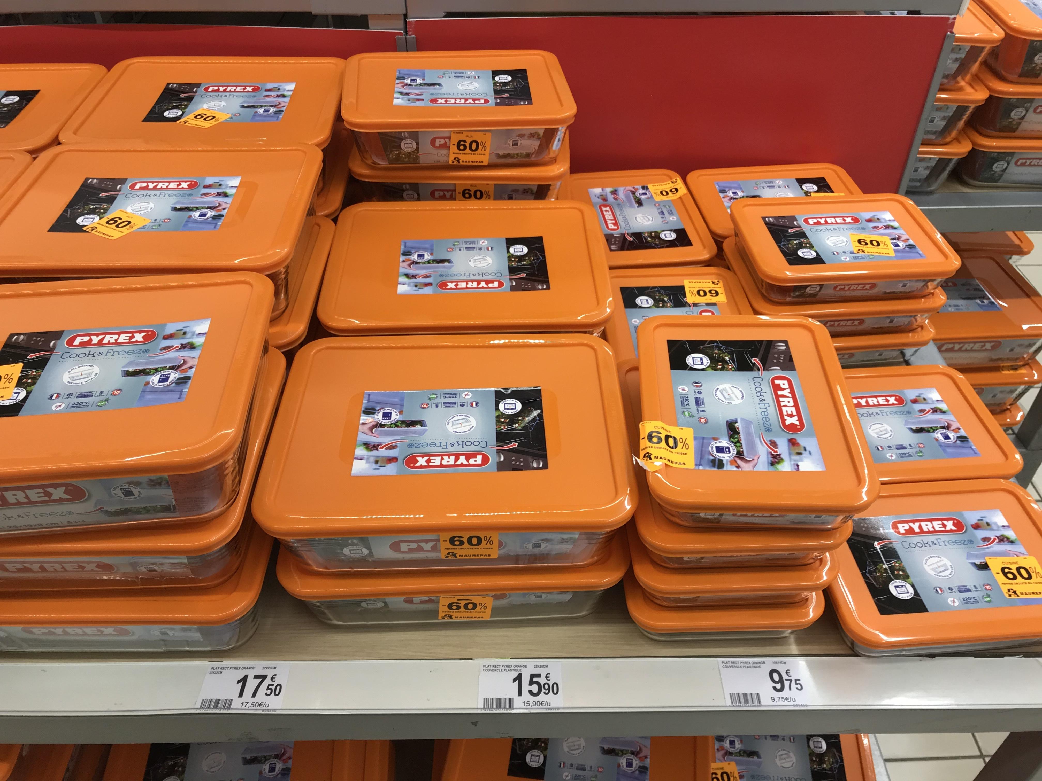 Plat Rectangulaire Cook & Freeze - 3 tailles différentes, Ex : 25x20cm - Auchan Maurepas (78)