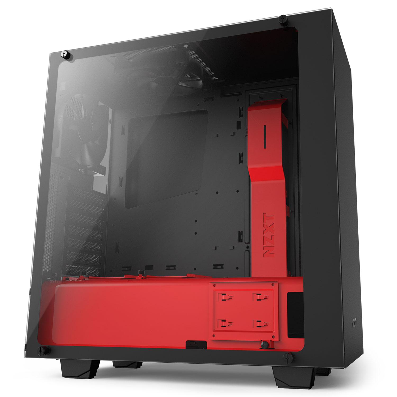 Boitier PC NZXT S340 Elite (Noir/Rouge)