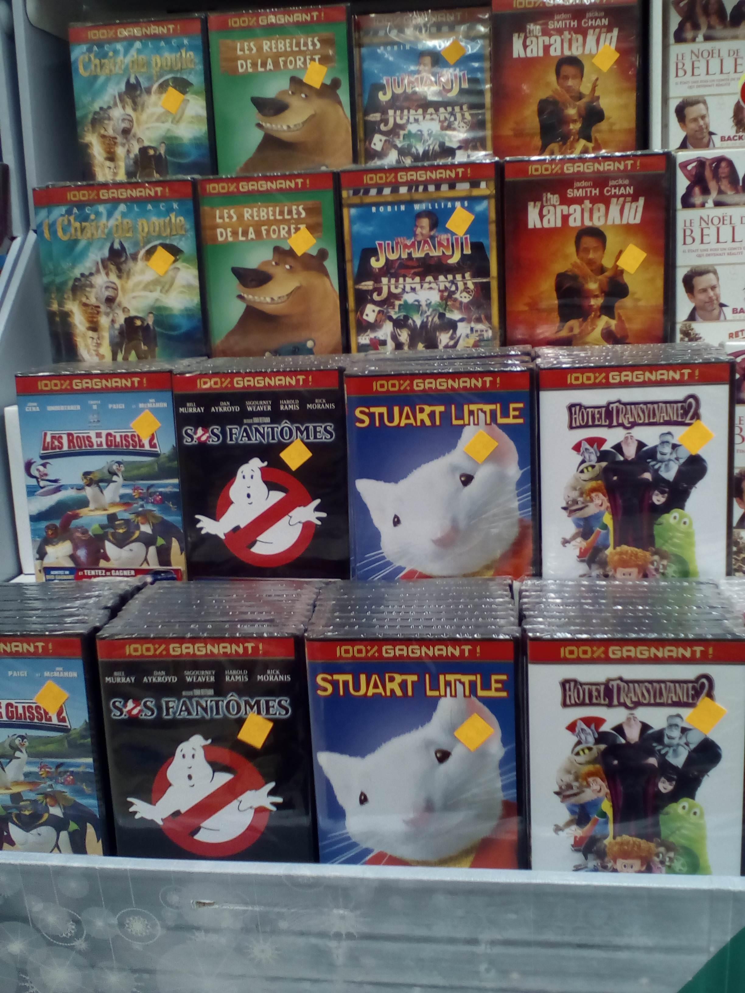 Selection de DVD à 1€ et BR à 3€ - Ex : DVD Hotel Transylvanie 2 - Carrefour Montreuil (93)