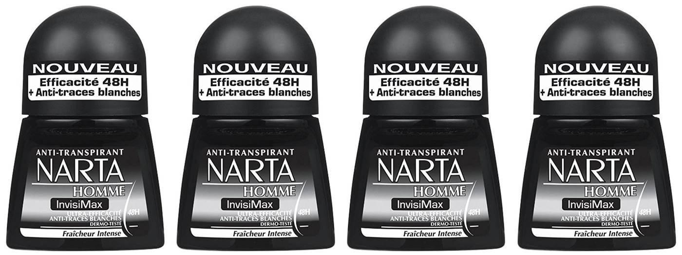 [Prime] 4 déodorants Homme Bille Narta Invisimax 50ml