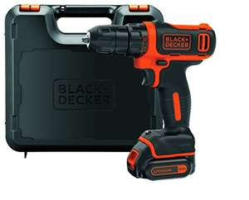Perceuse-visseuse sans fil Black & Decker BDCDD12K1B - 10.8V (avec coffret)