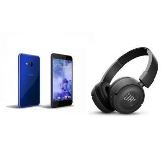 """Smartphone 5"""" HTC U Play 32 Go - Bleu + Casque bluetooth JBL T450BT - Noir"""