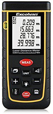 Télémètre Laser numérique Excelvan - Portée 40m (vendeur tiers)