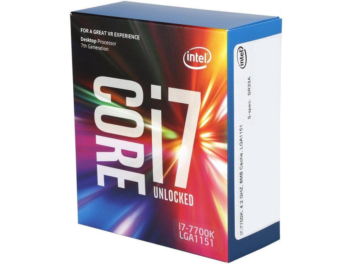Processeur Intel Core i7-7700K Kaby Lake Quad-Core 4.2 GHz LGA 1151