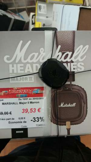 Casque Marshall Major 2  BROWN - Claye Souilly (77)
