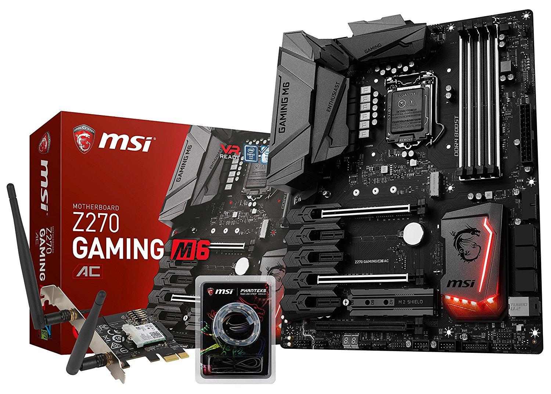 Carte mère MSI Z270 Gaming M6 AC (inclut une carte PCI Express Wi-Fi AC et Bluetooth)