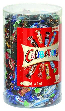 [PrimeNow] Boîte de bonbons Celebrations Tubo - 1,435Kg
