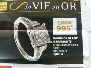 Bague en or blanc et diamants - Porte des Alpes (69)