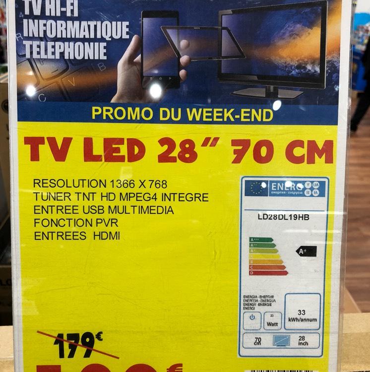 """TV LED 28"""" SchaubLorenz LD28DL19HB HD - Rueil-Malmaison (92)"""