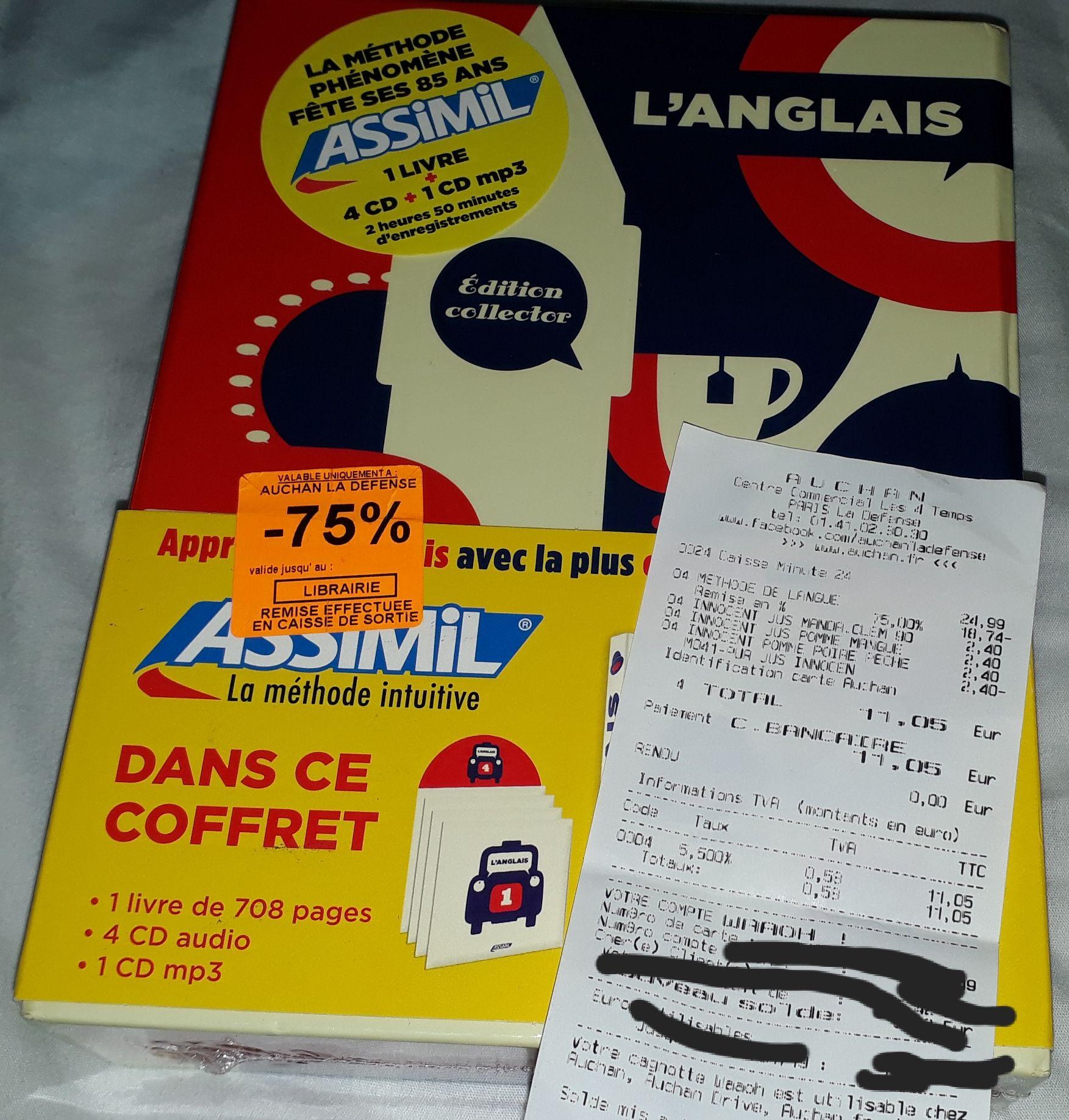 Coffret collector Assimil Anglais (livre + CD) - La Défense (92)