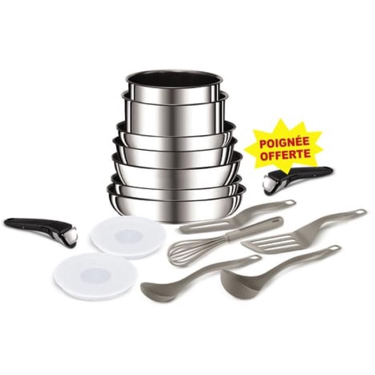Batterie de cuisine Tefal Ingenio - 16 pièces, Tous feux dont induction