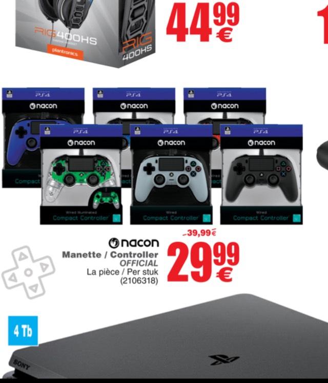Manette filaire pour PS4 ou PC Nacon (frontaliers Belgique)