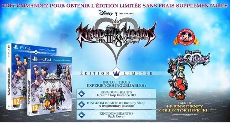 Jeu Kingdom Hearts HD 2.8 Final Chapter Prologue sur PS4 - Edition Limitée