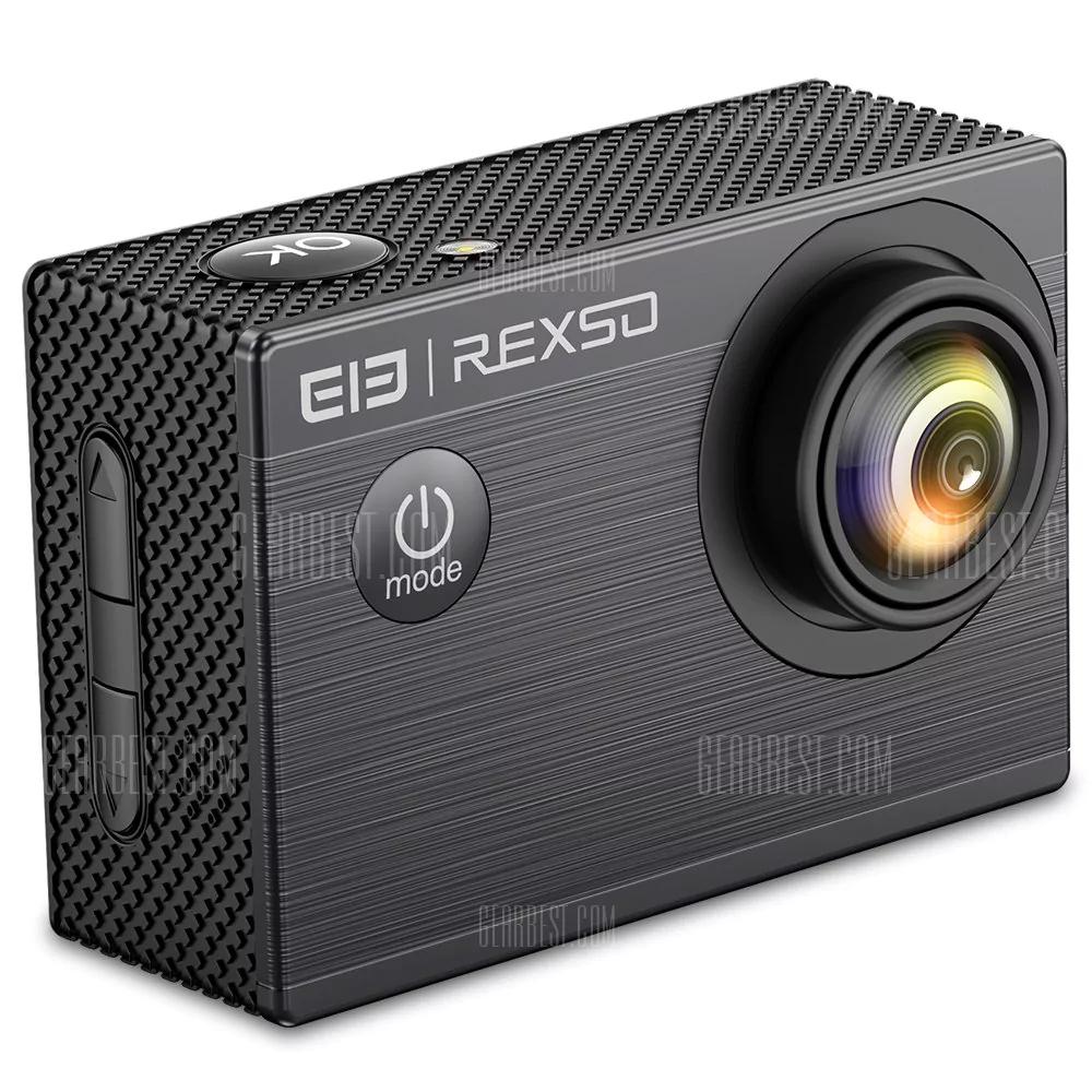 Minu Caméra Elephone REXSO Explorer X - 4K 30FPS, Noire