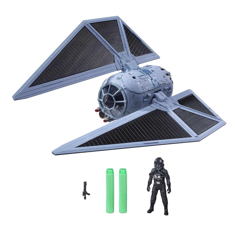 Jouet vaisseau Hasbro Star Wars: Rogue One - TIE Striker (B7105) + 2 fléchettes Nerf Elite + figurine (10 cm)