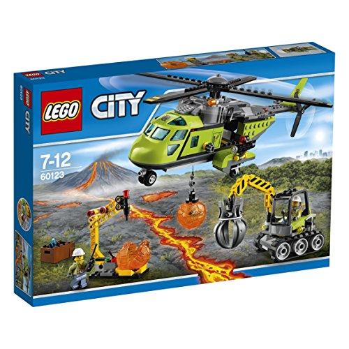 Jeu de construction LEGO City: L'hélicoptère d'approvisionnement du Volcan 60123