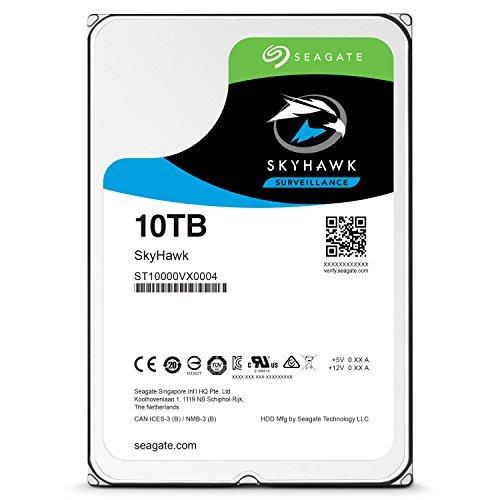 """Disque dur interne 3.5"""" Seagate SkyHawk ST10000VX0004 - 10 To"""