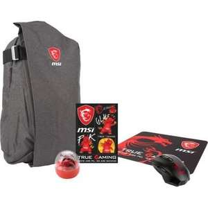 Pack MSI Gaming - Sac à dos + Souris Gaming + Tapis de Souris Gaming + Goodies