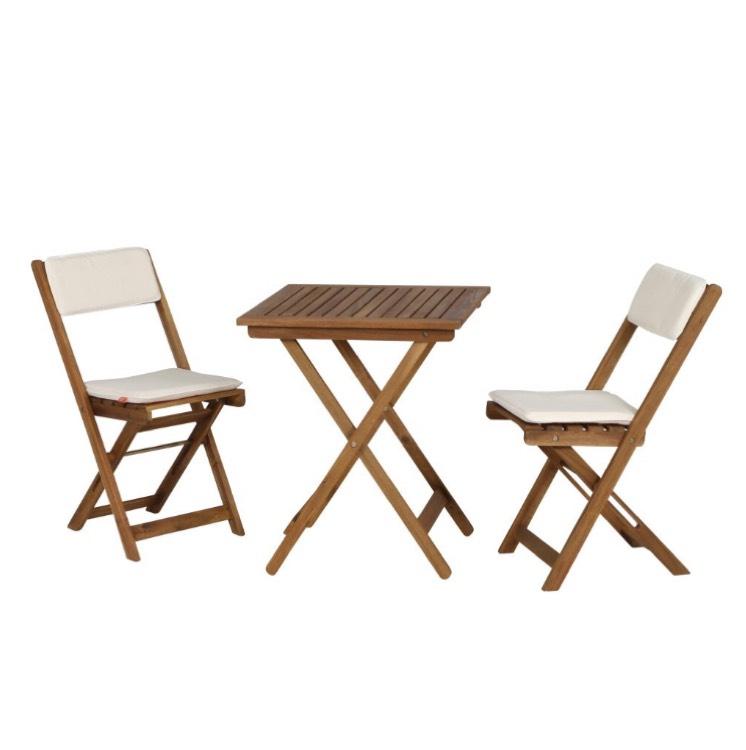 Set de balcon Siena Garden Almeria: 1 table et 2 chaises en acacia