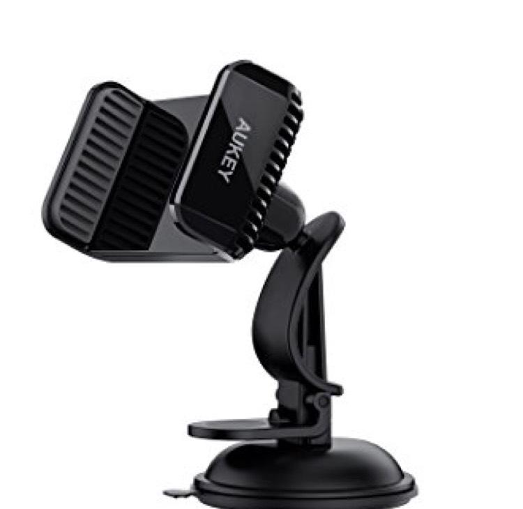 Mini support GPS Aukey HD-C29 à Ventouse - Noir (Vendeur Tiers)