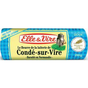 Lot de 2 beurres Elle & Vire doux La laitière (50% sur le 2ème + bon de réduction + C-Wallet)