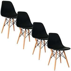 4 chaises scandinaves