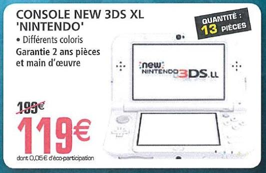 Console portable Nintendo New 3DS XL - différents coloris au E.Leclerc Vandœuvre-lès-Nancy (54)