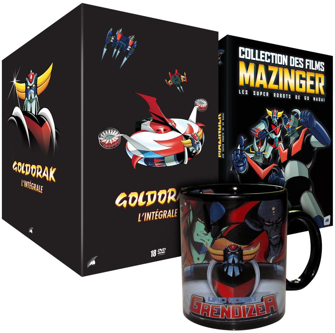 Coffret DVD Goldorak (version remastérisée non censurée) + coffret Mazinger (7 films) + Mug
