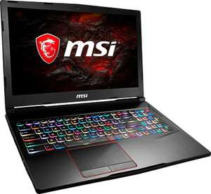 "PC portable 15.6"" full HD 120Hz MSI GE63VR 7RE-013XFR - i7-7700HQ, GTX-1060, 8 Go de RAM, 1 To + 256 Go en SSD, sans OS"