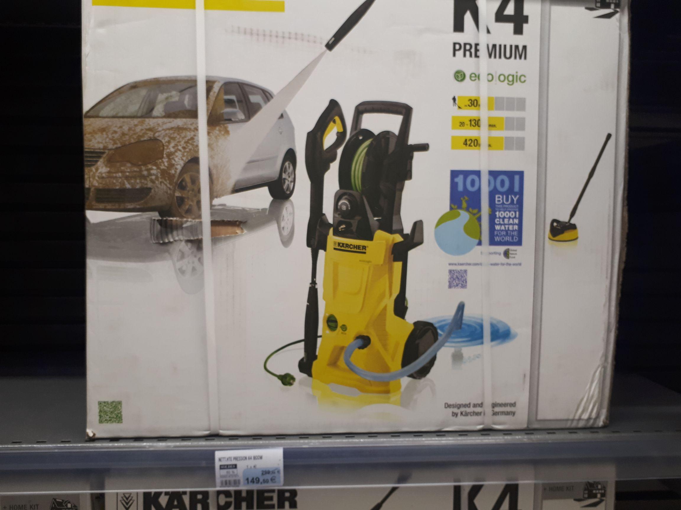 Sélection de nettoyeurs haute pression - Ex : Karcher K4 Premium Ecologic - Hyper U Blain (44)