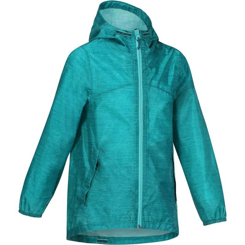 Veste imperméable de randonnée pour fille Quechua Hike 100 - Vert