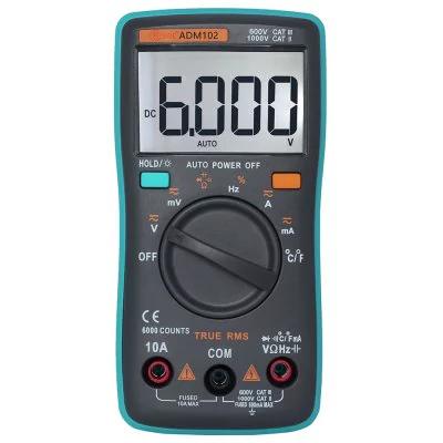 Multimètre / Thermomètre ZT102 à Affichage LCD - 6000 Points