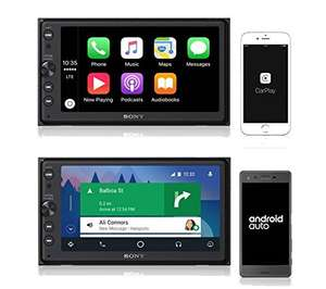 Ampli-tuner multimédia Sony XAV AX100 6.4 (CarPlay, Android Auto, Navigation, Spotify, Double DIN, Bluetooth, Radio)