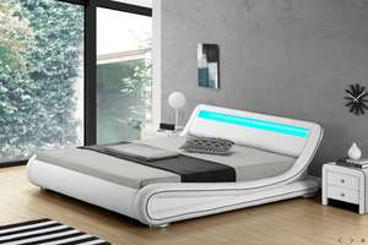 Lit LED New York - Blanc (140 x 190 cm)