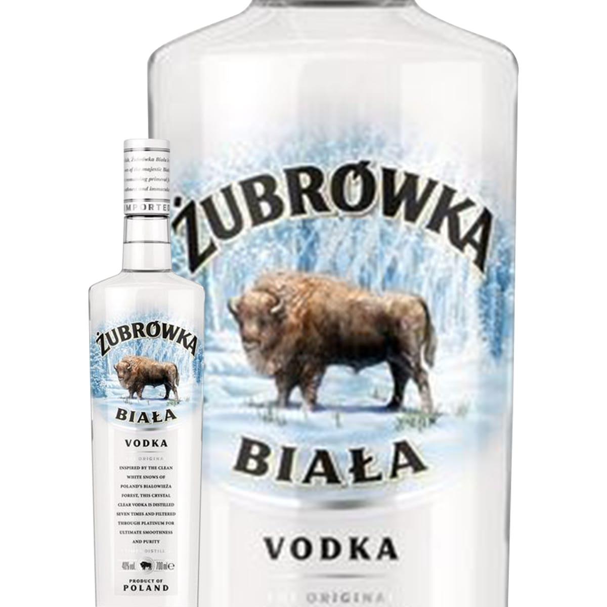 Bouteille de vodka Zubrowka Biala Winter Rye - 40° (via 4.35€ sur la carte Waaoh)