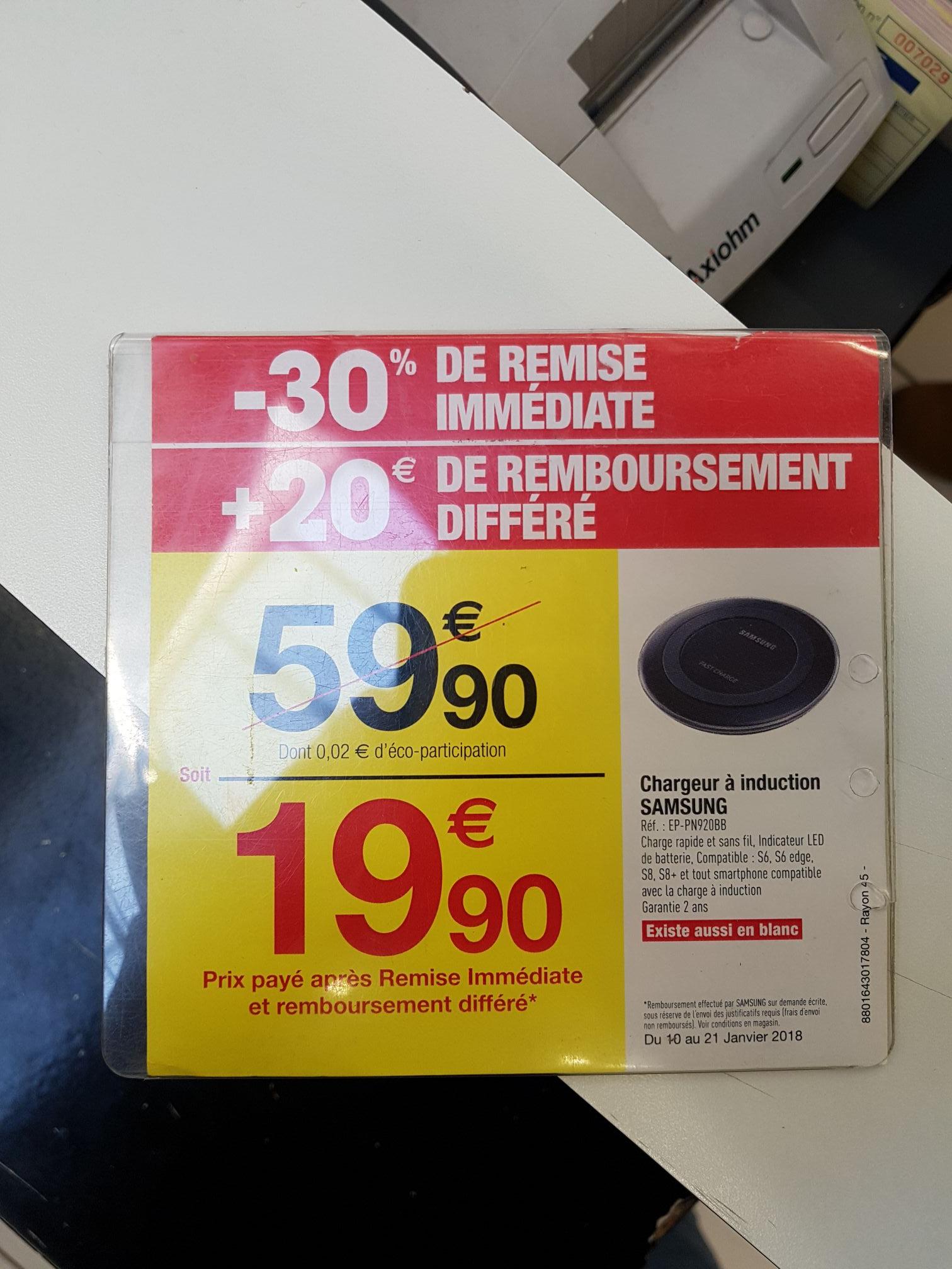 Chargeur induction Samsung (via ODR de 20€) - Meylan (38)