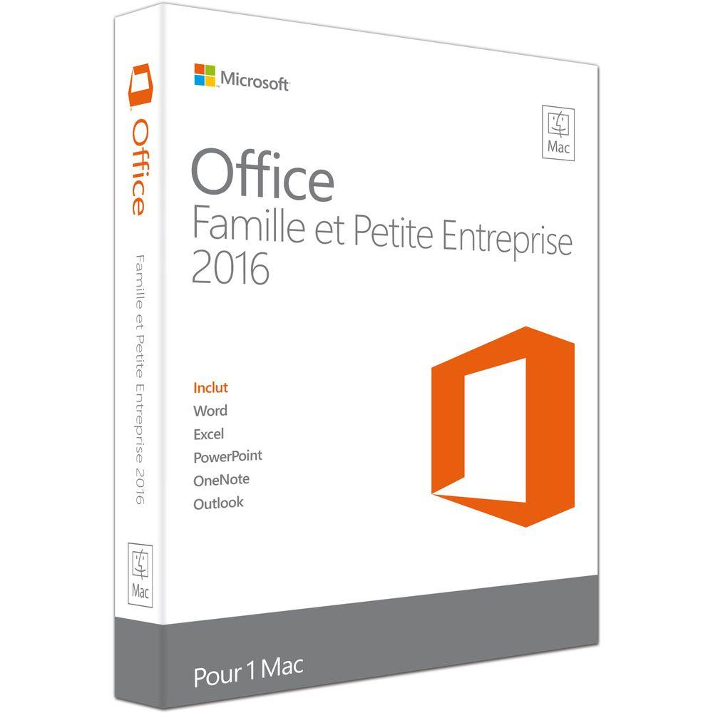Licence Microsoft Office Famille et Petite Entreprise 2016 pour Mac