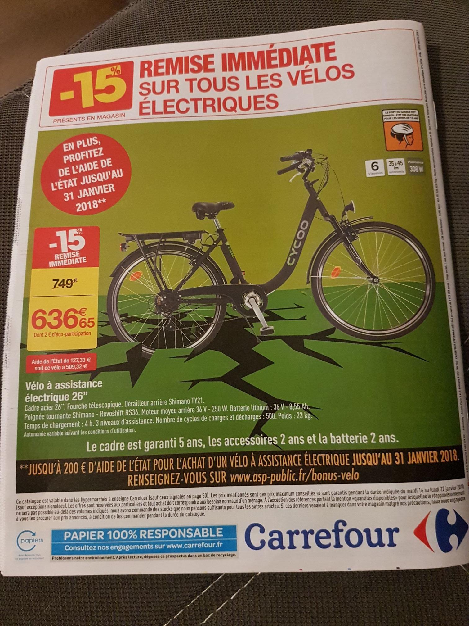 Vélo a assistance électrique Cycoo
