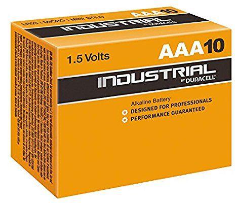 [panier plus] Pack de 10 piles Duracell INDUSTRIELLES AAA