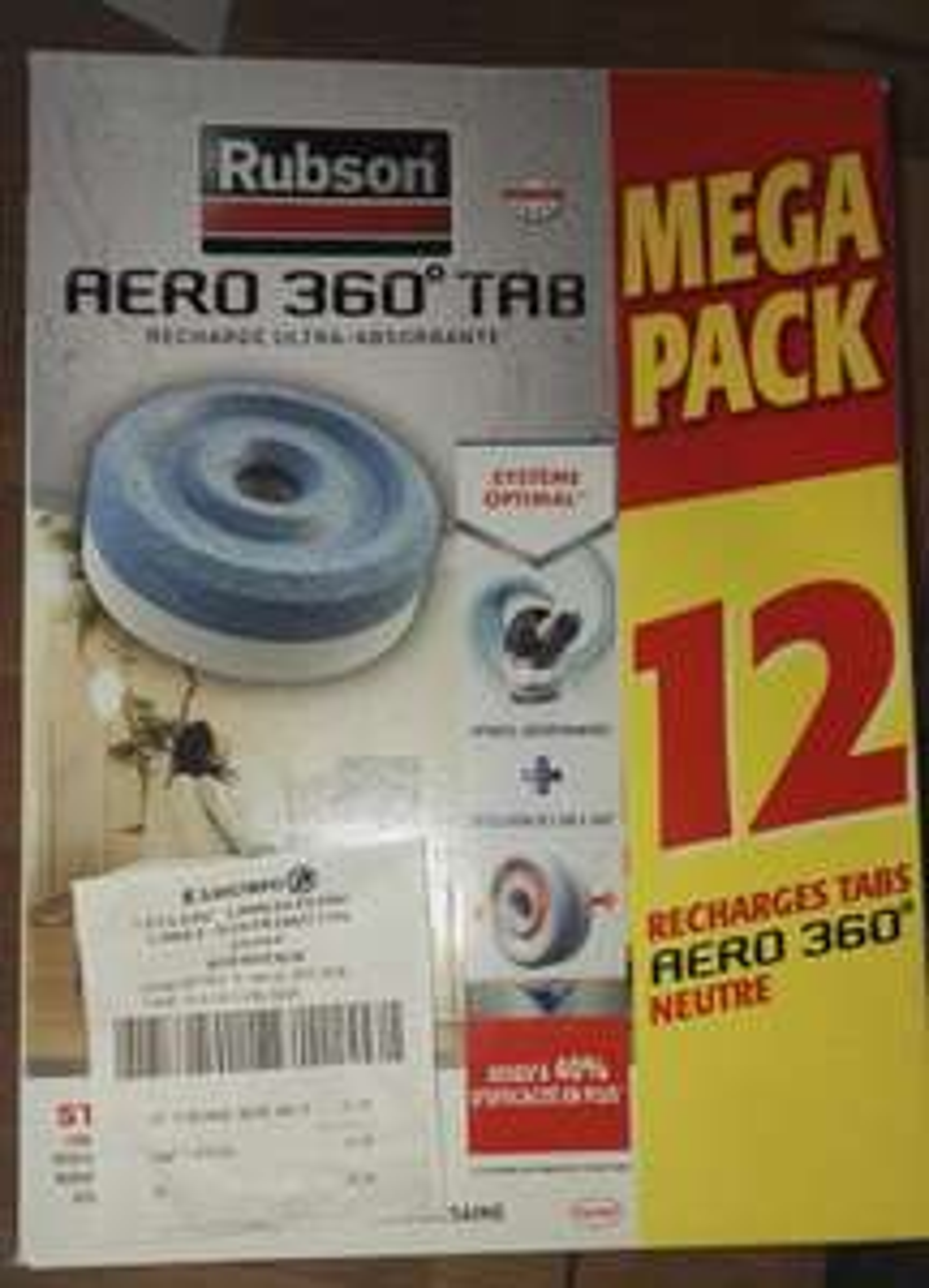 Mega Pack 12 recharges Rubson Aero 360° Tab - Landivisiau (29)