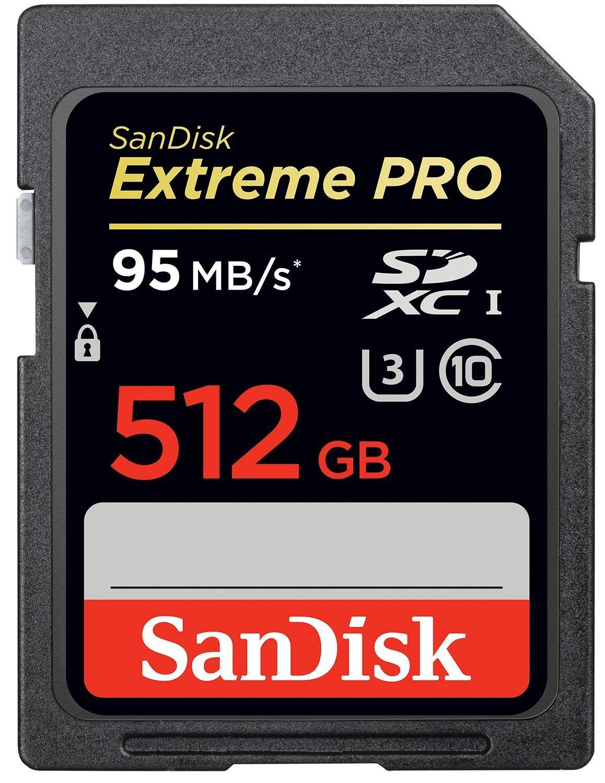 Carte Mémoire SDXC Sandisk Extreme Pro - 512 Go (Jusqu'à 95 Mo/s)