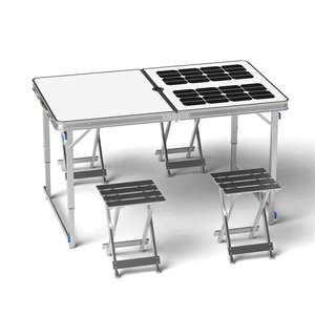 Table pliante solaire