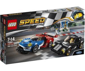 Sélection de jouets Lego en promotion - Ex Lego Speed Champions - 2016 Ford GT & 1966 Ford GT40 (75881) au Auchan Bouliac (33)