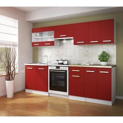 Cuisine complète Ultra  L 2m40 - Rouge mat