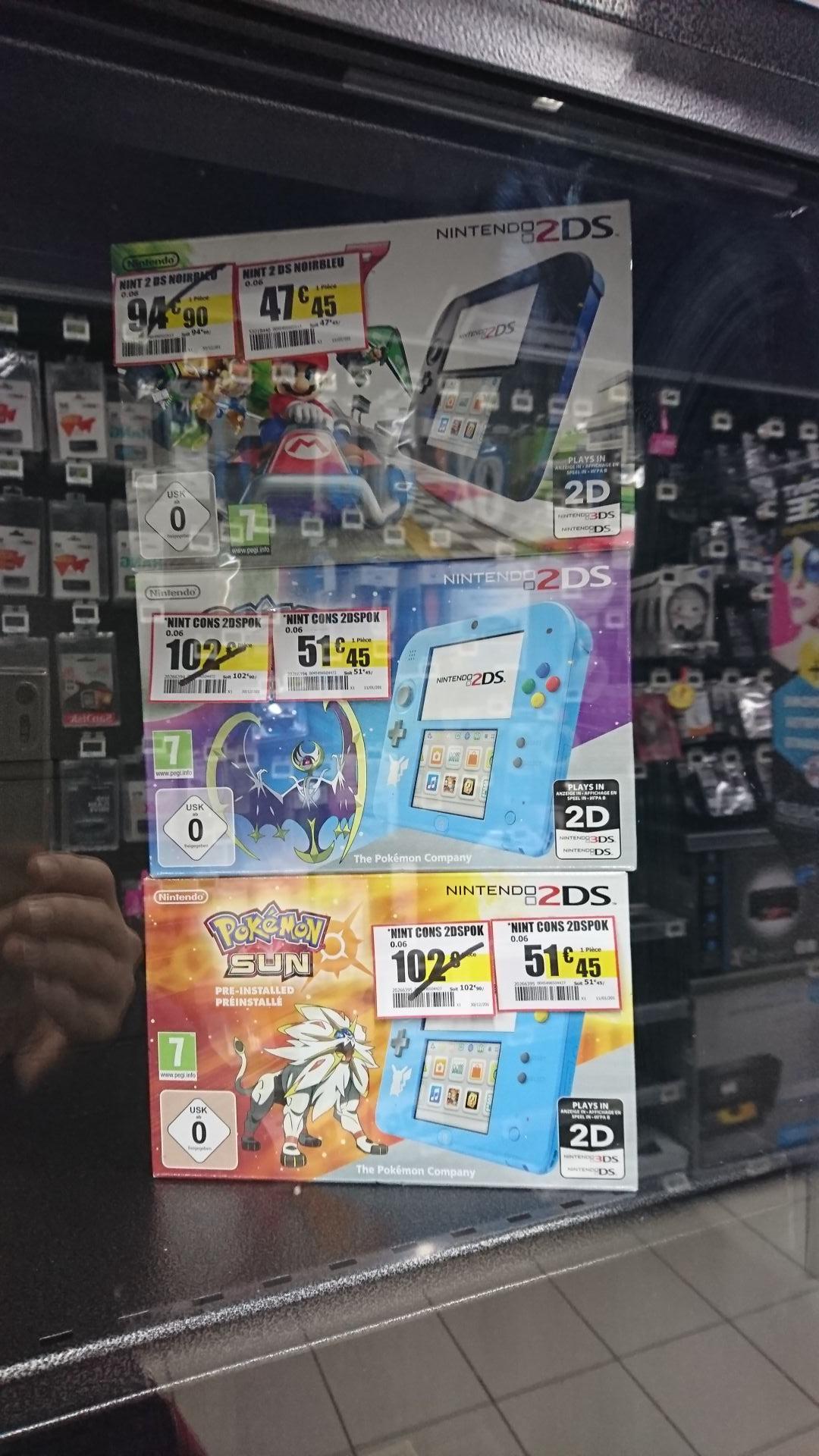 Sélection de Nintendo 2DS en promotion - Ex : Nintendo 2DS + Mario Kart 7 (pré-installé) - Pornichet (44)