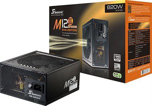 Alimentation PC Seasonic M12II-620 Evo - 620W, modulaire, 80+ Bronze